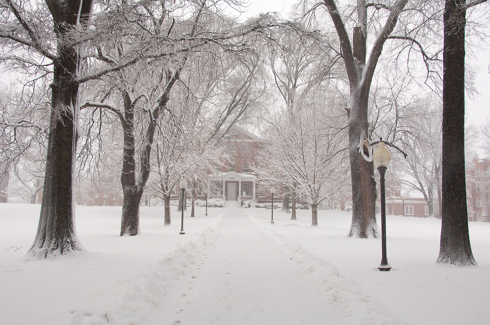 St. John's College in Annapolis Maryland following snowstorm