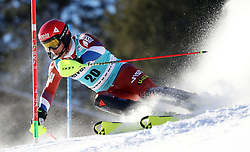 12.01.2020, Chuenisbärgli, Adelboden, SUI, FIS Weltcup Ski Alpin, Slalom, Herren, im Bild Alexander Khoroshilov (RUS) // during the men's Slalom of FIS ski alpine world cup at the Chuenisbärgli in Adelboden, Switzerland on 2020/01/12. EXPA Pictures © 2020, PhotoCredit: EXPA/ SM<br /> <br /> *****ATTENTION - OUT of GER*****