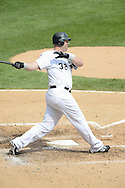 CHICAGO - SEPTEMBER 05:  Adam Dunn #32 of the Chicago White Sox bats against the Minnesota Twins on September 05 , 2012 at U.S. Cellular Field in Chicago, Illinois.  The White Sox defeated the Twins 6-2.  (Photo by Ron Vesely)  Subject:    Adam Dunn