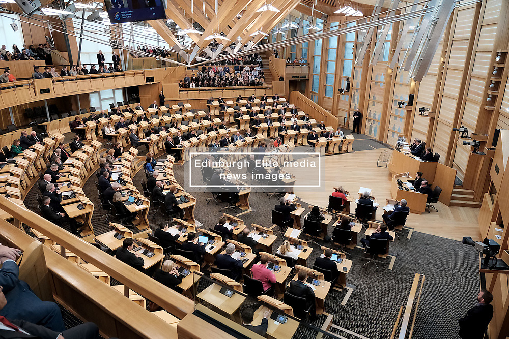 First Minister's Questions in the Scottish Parliament<br /> <br /> Thursday, 19th September 2019<br /> <br /> Pictured: The Debating Chamber<br /> <br /> Alex Todd   Edinburgh Elite media