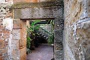 Doorway in old sandstone wall. The Rocks, Sydney, Australia