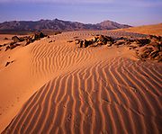 Kelso Dunes at Dawn and the Granite Mountains, Mojave National Preserve, California