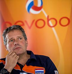 10-05-2017 NED: Persconferentie Nederlands volleybal team mannen 2017, Arnhem<br /> Op Papendal werd de eerste persconferentie gehouden van het Nederlands volleybalteams mannen / Coach Gido Vermeulen