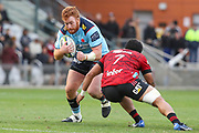Harry Johnson-Holmes of the Waratahs in possession during the Round 3 Trans-Tasman Super Rugby match between the NSW Waratahs and the Canterbury Crusaders at WIN Stadium in Wollongong, Saturday, May 29, 2021. (AAP Image/David Neilson) NO ARCHIVING, EDITORIAL USE ONLY