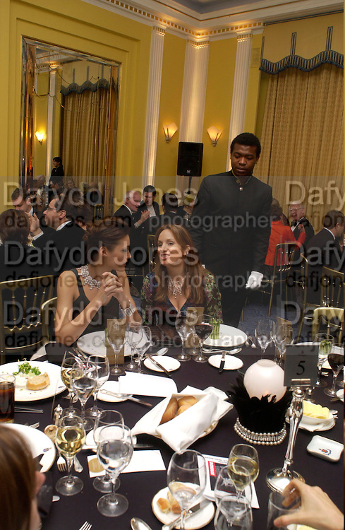 Yasmin le Bon and Emily Oppenheimer. Grand Hotel-A Donmar Warehouse Gala evening in association with De Beers. Claridges. 2 December 2004. ONE TIME USE ONLY - DO NOT ARCHIVE  © Copyright Photograph by Dafydd Jones 66 Stockwell Park Rd. London SW9 0DA Tel 020 7733 0108 www.dafjones.com