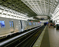 the Metro Washington DC still almost deserted with the ongoing covid pandemic photo by Catherine Brown