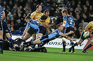 Cardiff Blues v Australia at the Cardiff City Stadium on Tuesday 24th Nov 2009. pic by Andrew Orchard, Andrew Orchard sports photography Gareth Cooper of the Cardiff Blues in action.