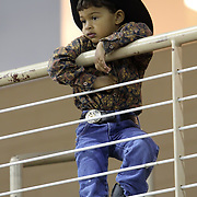 A young cowboy watches during the 129th performance of the PRCA Silver Spurs Rodeo at the Silver Spurs Arena   on Friday, June 1, 2012 in Kissimmee, Florida. (AP Photo/Alex Menendez) Silver Spurs rodeo action in Kissimee, Florida. PRCA rodeo event in Florida. The 129th annual running of the cowboy event.