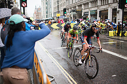 Christine Majerus (LUX) of Boels-Dolmans Cycling Team leads the peloton in the second lap of the Prudential Ride London Classique - a 66 km road race, starting and finishing in London on July 29, 2017, in London, United Kingdom. (Photo by Balint Hamvas/Velofocus.com)