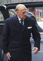 Prince Philip visits Baker Street tube station in London, after a visit as part of the London Underground's 150th anniversary, Wednesday, 20th March 2013. Photo by Max Nash / i-Images...
