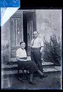 daughter and father posing for a portrait France 1934