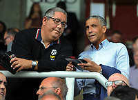 Football - 2019 / 2020 pre-season friendly - Northampton vs. Sheffield United<br /> <br /> Ex Brighton manager, Chris Hughton talks to Talk sport's The mouse, at Sixfields Stadium.<br /> <br /> COLORSPORT/ANDREW COWIE