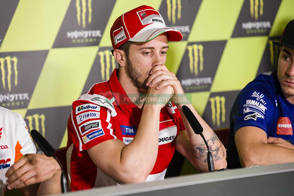 June 8, 2017 - Barcelona, Spain - MotoGP, Andrea Dovizioso(Ita), Ducati Team during the press conference of MotoGp Grand Prix Monster Energy of Catalunya, in Barcelona-Catalunya Circuit, Barcelona on 8th June 2017 in Barcelona, Spain. (Credit Image: © Urbanandsport/NurPhoto via ZUMA Press)