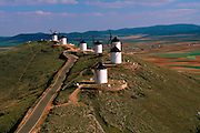 SPAIN, LA MANCHA windmills, Consuegra, 'Don Quixote'