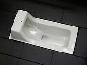 close up of an Asian style toilet