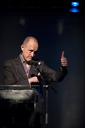 (c) Licensed to London News Pictures. 12/02/2014. London. UK. Sir Peter Bazalgette, Chair of Arts Council England announces the second Exceptional Award to be granted by Arts Council England at the opening IdeasTap Takeover Event, RichMix, London. Called IdeasTap Inspires, it will benefit 5,000 talented young people across the UK with a comprehensive, multi-disciplinary support programme. Photo credit : Carole Edrich/LNP