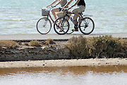 Bicycle riders in Formentera