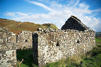 Ruins of old croft house, Kerrera Island, Scotland