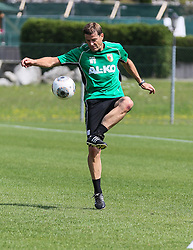 14.07.2013, Walchsee, AUT, FC Augsburg, Trainingslager, im Bild Fussball-Tennis am ersten Trainingstag, am Ball Wolfgang BELLER (Co-Trainer FC Augsburg) // during a trainings session of German 1st Bundesliga club FC Augsburg at their training camp in Walchsee, Austria on 2013/07/14. EXPA Pictures © 2013, PhotoCredit: EXPA/ Eibner/ Klaus Rainer Krieger<br /> <br /> ***** ATTENTION - OUT OF GER *****