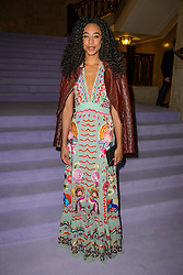 Corrine Bailey Rae on the front row during the Temperley Autumn/Winter 2017 London Fashion Week show at Banking Hall, London.