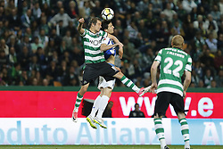 April 18, 2018 - Lisbon, Lisboa, Portugal - Sporting CP Defender Fabio Coentrao from Portugal (L) and FC Porto Defender Marcano from Spain (R) during the Sporting CP v FC Porto - Portuguese Cup semi finals 2 leg at Estadio Jose Alvalade on April 18, 2018 in Lisbon, Portugal. (Credit Image: © Dpi/NurPhoto via ZUMA Press)
