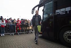 Bristol City players arrive before the match - Mandatory by-line: Jack Phillips/JMP - 11/01/2020 - FOOTBALL - DW Stadium - Wigan, England - Wigan Athletic v Bristol City - English Football League Championship