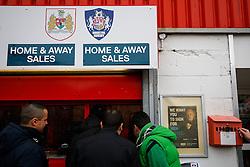 Fans collect tickets before the match - Photo mandatory by-line: Rogan Thomson/JMP - 07966 386802 - 25/01/2015 - SPORT - FOOTBALL - Bristol, England - Ashton Gate Stadium - Bristol City v West Ham United - FA Cup Fourth Round Proper.