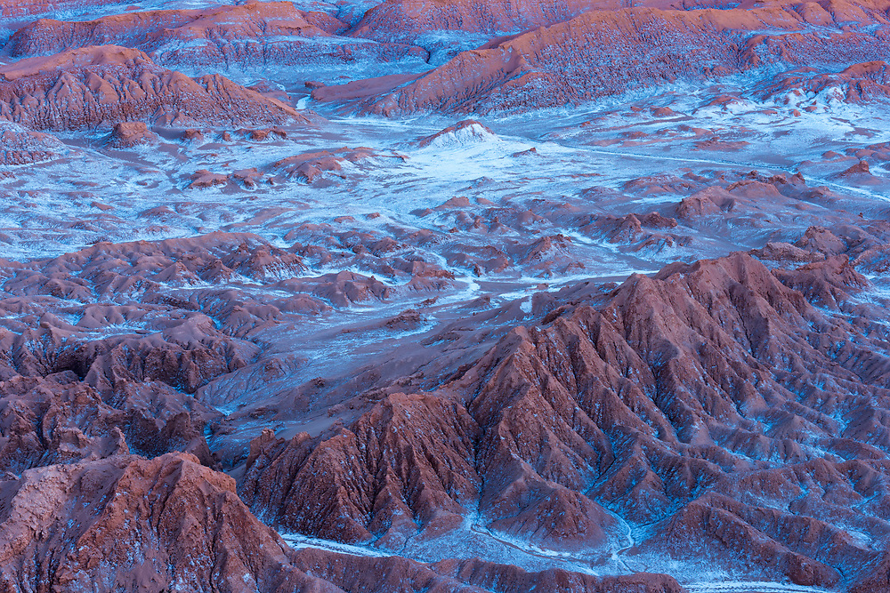 Salt formations at Valle de la Luna (spanish for Moon Valley), also know as Cordillera de la Sal (spanish for Salt Mountain Range), Los Flamencos National Reserve, San Pedro de Atacama, Chile