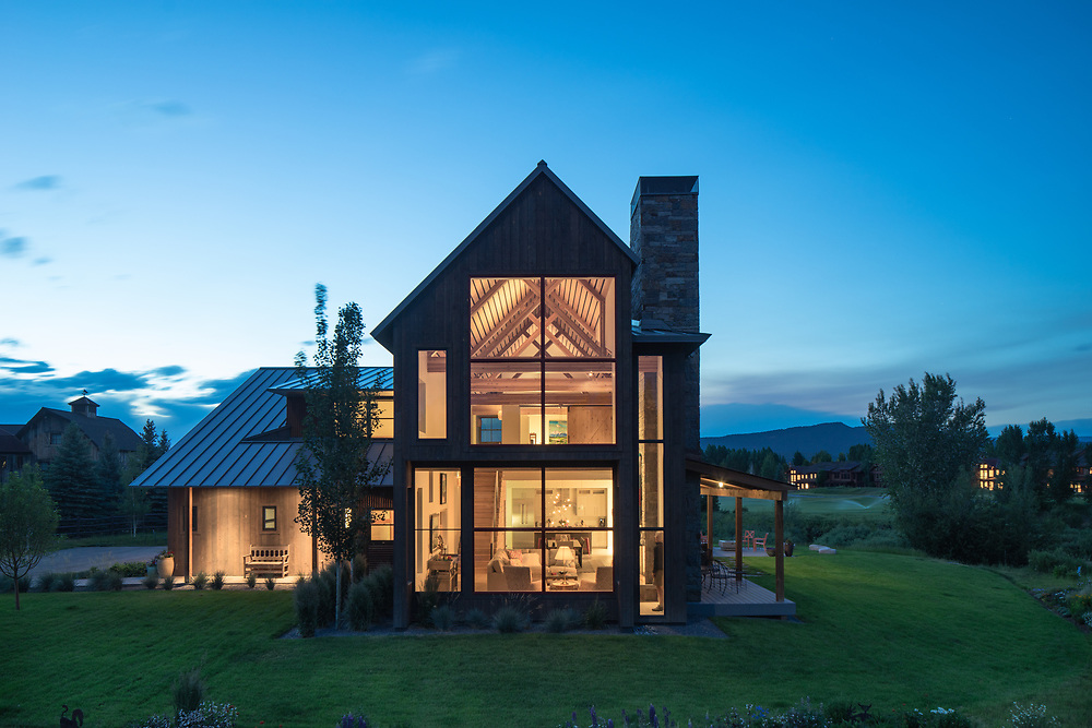 A home near Carbondale, Colorado, designed by Harry Teague, Architects.