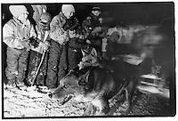 UP 200 Sled Dog Race, Midnight Run, 1993, Chatham checkpoint, Michigan