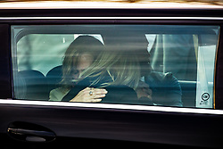 © Licensed to London News Pictures . 30/10/2018. Accrington , UK . Gemma's mother HELEN SPROATES and the actress KATE WINSLET hug in the hearse after the end of the service . The funeral of Gemma Nuttall at Accrington Crematorium . Gemma died of cancer despite initially seeing off the disease after radical immunotherapy treatment in Germany , paid for with the fundraising support of actress Kate Winslet , who read of Gemma's plight on a crowdfunding website shortly after she lost her own mother to cancer . Permission to photograph given by Gemma's mother , Helen Sproates . Photo credit : Joel Goodman/LNP