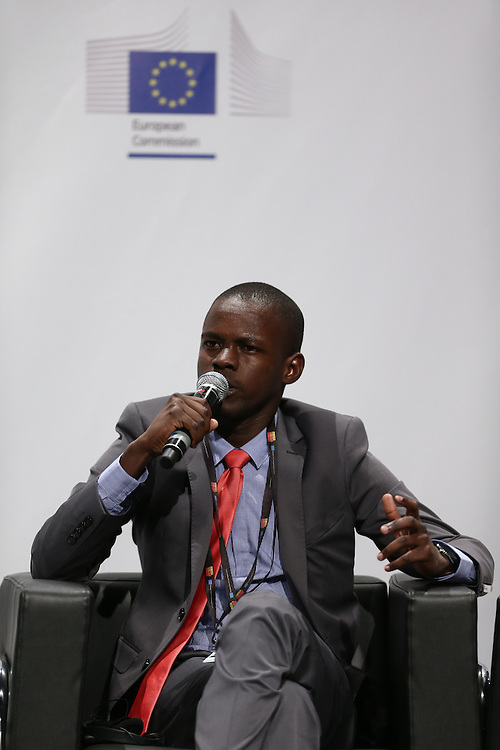 03 June 2015 - Belgium - Brussels - European Development Days - EDD - Special Event - A more connected , contested and complex world is in your hands - A conversation with Federica Mogherini and Sam Kutesa - Birwe Habmo , Future Leader © European Union