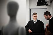 Lawyers of terrorist Anders Behring Breivik appears in court. Tord Eskild Jordet (left) and Odd Ivar Gron.