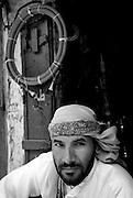 Water pipe or Hookah maker. The market in the old city of Sanaa. Yemen.