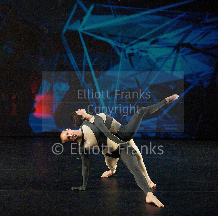Nearly Ninety<br /> The Merce Cunningham Dance Company <br /> choreography by Merce Cunningham<br /> at The Barbican Theatre, London, Great Britain <br /> rehesrsal <br /> 26th October 2010 <br /> <br /> <br /> <br /> John Hinrichs<br /> Marcie Munnerlyn <br /> <br /> <br /> <br /> Photograph by Elliott Franks<br /> 2010©Elliott Franks