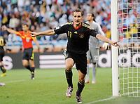 Fotball<br /> VM 2010<br /> Tyskland v Argentina<br /> 03.07.2010<br /> Foto: Witters/Digitalsport<br /> NORWAY ONLY<br /> <br /> 2:0 Jubel Miroslav Klose<br /> Fussball WM 2010 in Suedafrika, Viertelfinale Argentinien - Deutschland