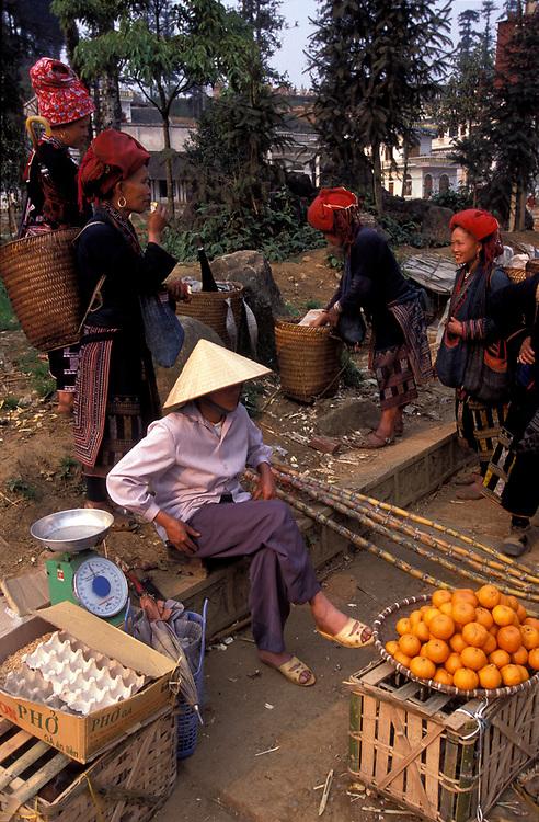 Hmong tribeswomen on market day, Sa Pa
