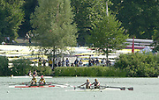 11/07/03/03 .2003 FISA Rowing World Cup - Lucerne.- Switzerland.looking aross the course from the far side Rowing Course, Lake Rottsee, Lucerne, SWITZERLAND. [Mandatory Credit: Peter Spurrier:intersport Images]