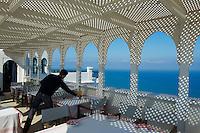 Maroc, Tanger, Kasbah, hôtel Nord-Pinus Tanger // Morocco, Tangier (Tanger), Nord-Pinus hotel on the Kasbah, old city, Medina