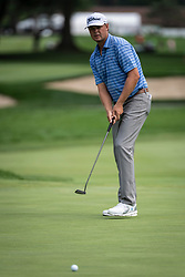 August 2, 2018 - Akron, OH, U.S. - AKRON, OH - AUGUST 02:  Patton Kizzire (USA) putts on the 15th green during the first round of the WGC-Bridgestone Invitational on August 2, 2018 at the Firestone Country Club South Course in Akron, Ohio. (Photo by Shelley Lipton/Icon Sportswire) (Credit Image: © Shelley Lipton/Icon SMI via ZUMA Press)