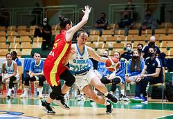 Jovana Pasic of Montenegro vs Zala Friskovec of Slovenia during friendly basketball match between Women National Teams of Slovenia and Montenegro, on May 21, 2021 in Arena Tri Lilije, Lasko, Slovenia. Photo by Vid Ponikvar / Sportida