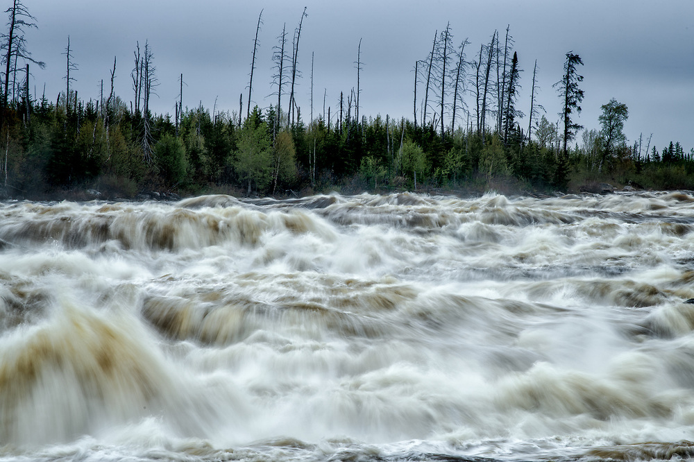 Rupert River at James Bay Road, Quebec.