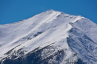 Snow covered  summit of 14,197 ft. Mount Princeton of the Sawatch Range.  Colorado.
