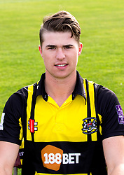 George Hankins of Gloucestershire Cricket poses for a headshot in the Royal London One Day Cup kit - Mandatory by-line: Robbie Stephenson/JMP - 04/04/2016 - CRICKET - Bristol County Ground - Bristol, United Kingdom - Gloucestershire  - Gloucestershire Media Day