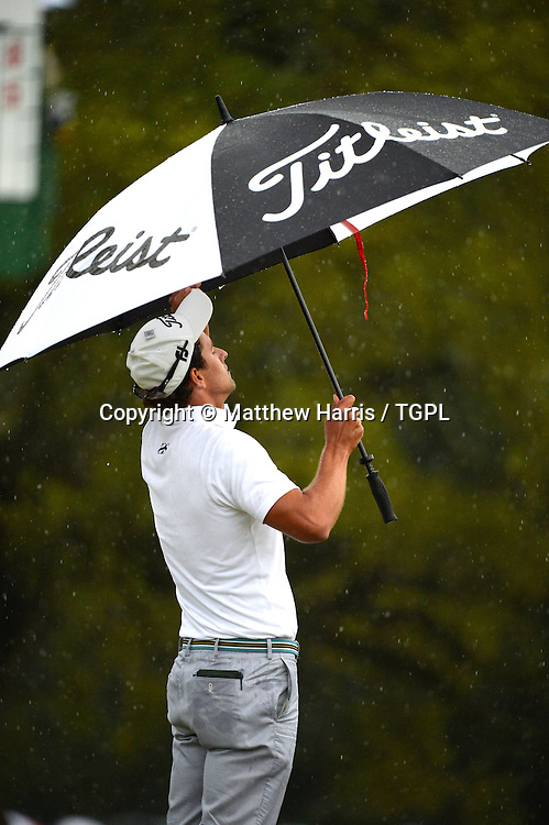 Adam SCOTT (AUS) 18th green during fourth round,US Masters 2013,Augusta National,Augusta,Georgia,USA.