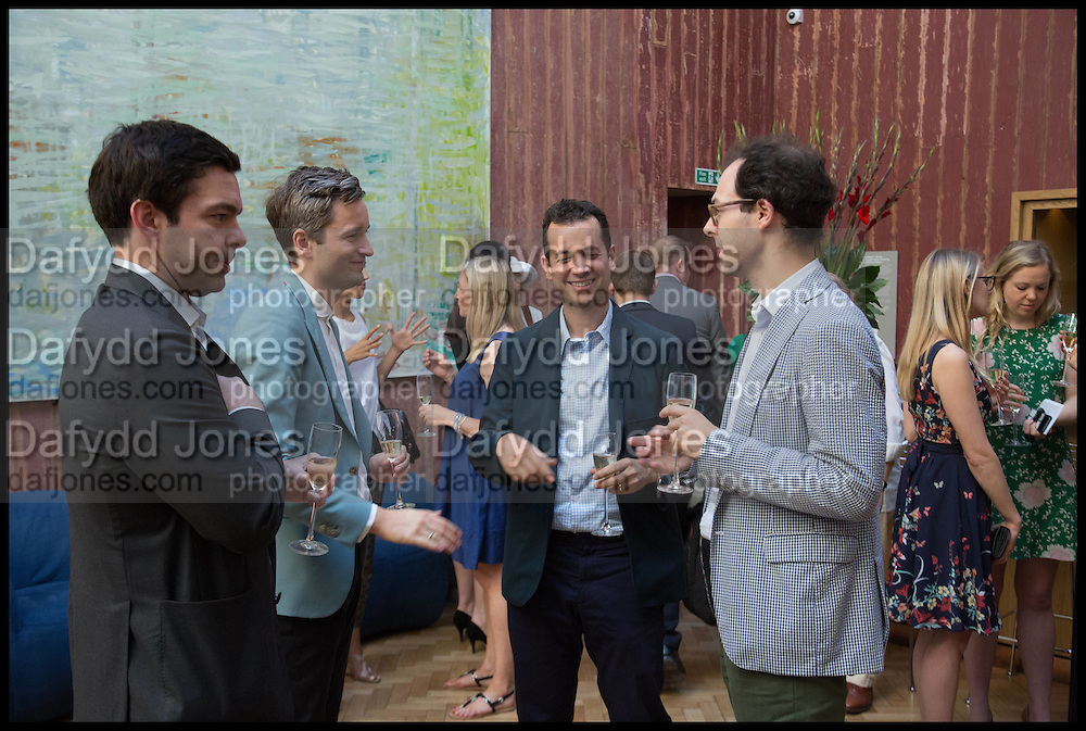 ELLIOT MACDONALD; CLAUS ROBENHAGEN; MATTHEW SLOTOVER; JOSH SPERO, Drinks party to launch this year's Frieze Masters.Hosted by Charles Saumarez Smith and Victoria Siddall<br />  Academicians' room - The Keepers House. Royal Academy. Piccadilly. London. 3 July 2014