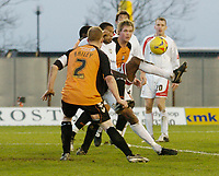 Photo: Leigh Quinnell.<br /> Milton Keynes Dons v Barnet. Coca Cola League 2. 20/01/2007. MK Dons Clive Platt fires in goal number two for his team.