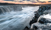 Selfoss is a waterfall above the better known Dettifoss.