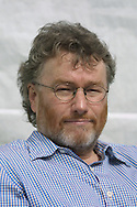Scottish science fiction writer and mainstream author Iain M. Banks pictured at the Edinburgh International Book Festival where he gave a talk about his work......