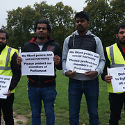 The Tamil community organises a vigil for David Amess killed as a suspected terrorist to Make Britain a save heaven for everyone. David Amess supported Tamil tigers in Sri Lanka to thank them for their support, 18 October 2021, London, UK.